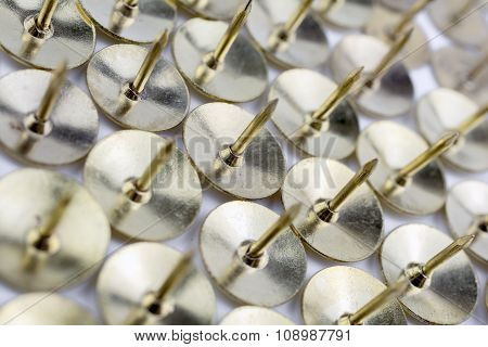 A Wall Of Thumbtacks In A White Box - Crooked Angle