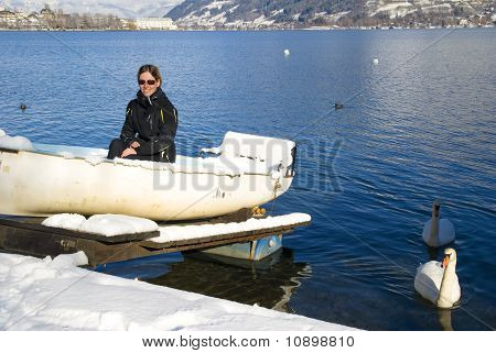 Young Woman In Zell Am See