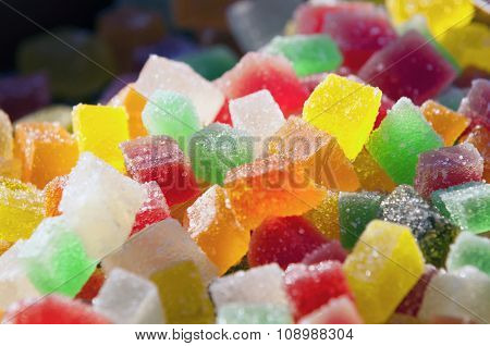 A Pile Of Colour Cube Candy