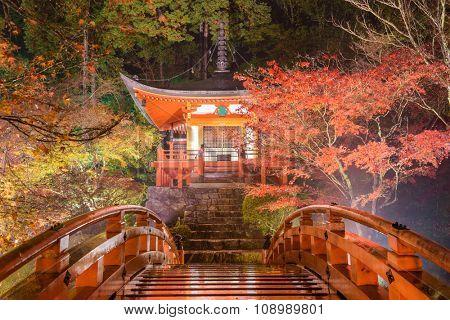 Kyoto, Japan at Daigoji Temple's Pagoda.