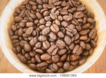 Roasted Coffee Bean In Bowl