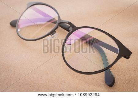 Clear Eyeglasses Black Frame Vintage Style Fashion