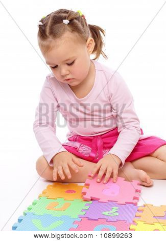 Little Girl With Alphabet