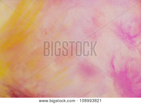 abstract pink color Backgrounds, painting on canvas.