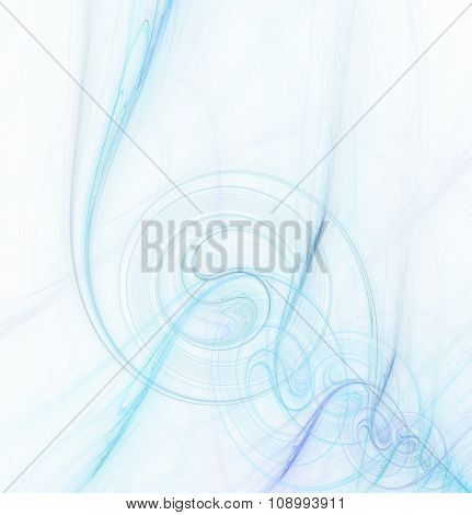 Abstract Fractal Background With Water Spiral Texture