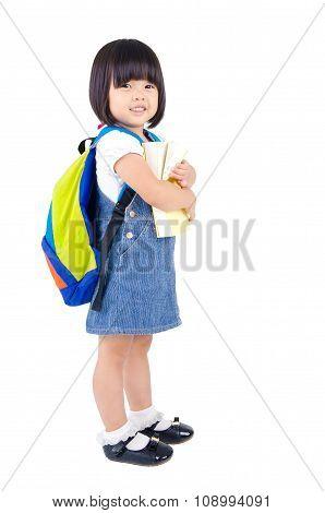 Cheerful asian preschooler