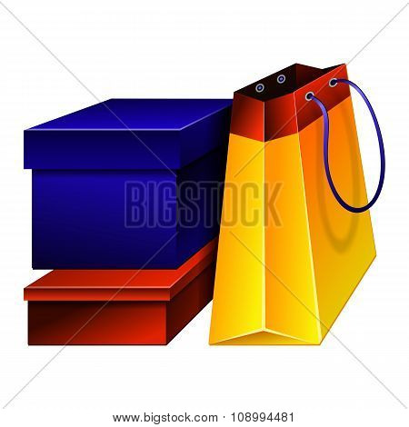 Illustration Bright shopping
