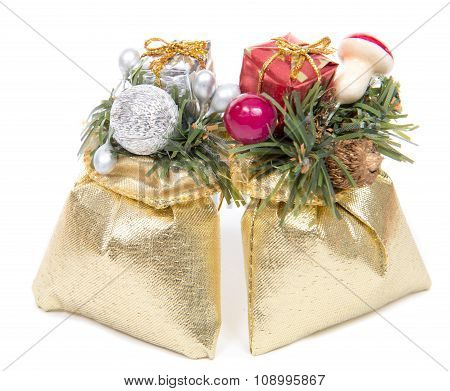 Christmas Decorations With Two Small Gifts