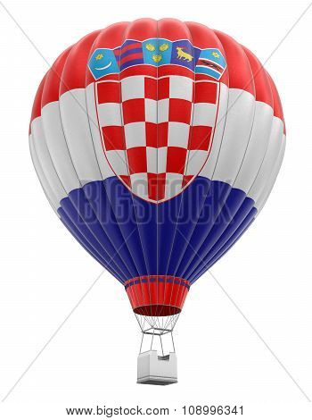 Hot Air Balloon with Croatian Flag (clipping path included)