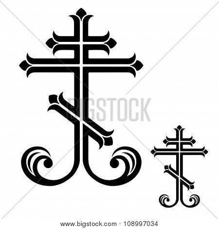 Ornamental orthodox crosses