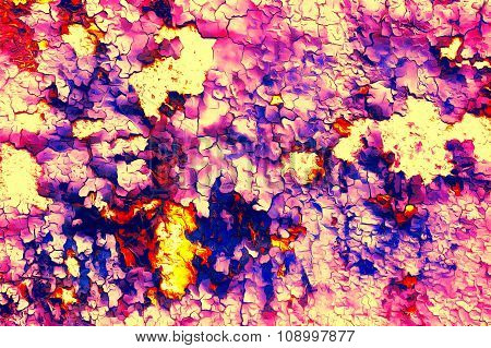 Color abstract background and desert crackle violet color