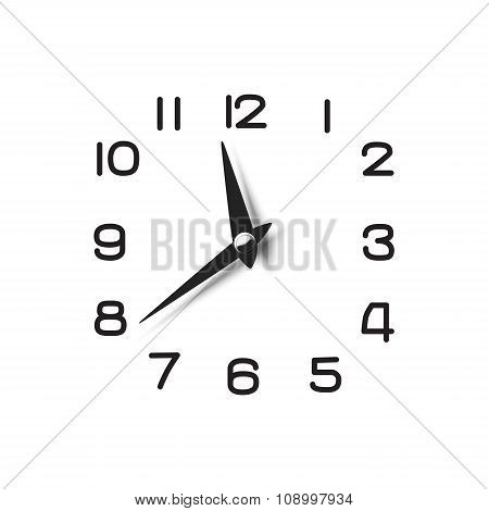 Clock Dial With Pointers And Numerical Symbols