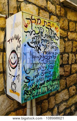 Modesty Graffity, Safed (tzfat)