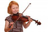 Постер, плакат: Девушка играет скрипка