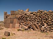 picture of urn funeral  - Sillustani ancient Funeral Towers in the Andes, Peru