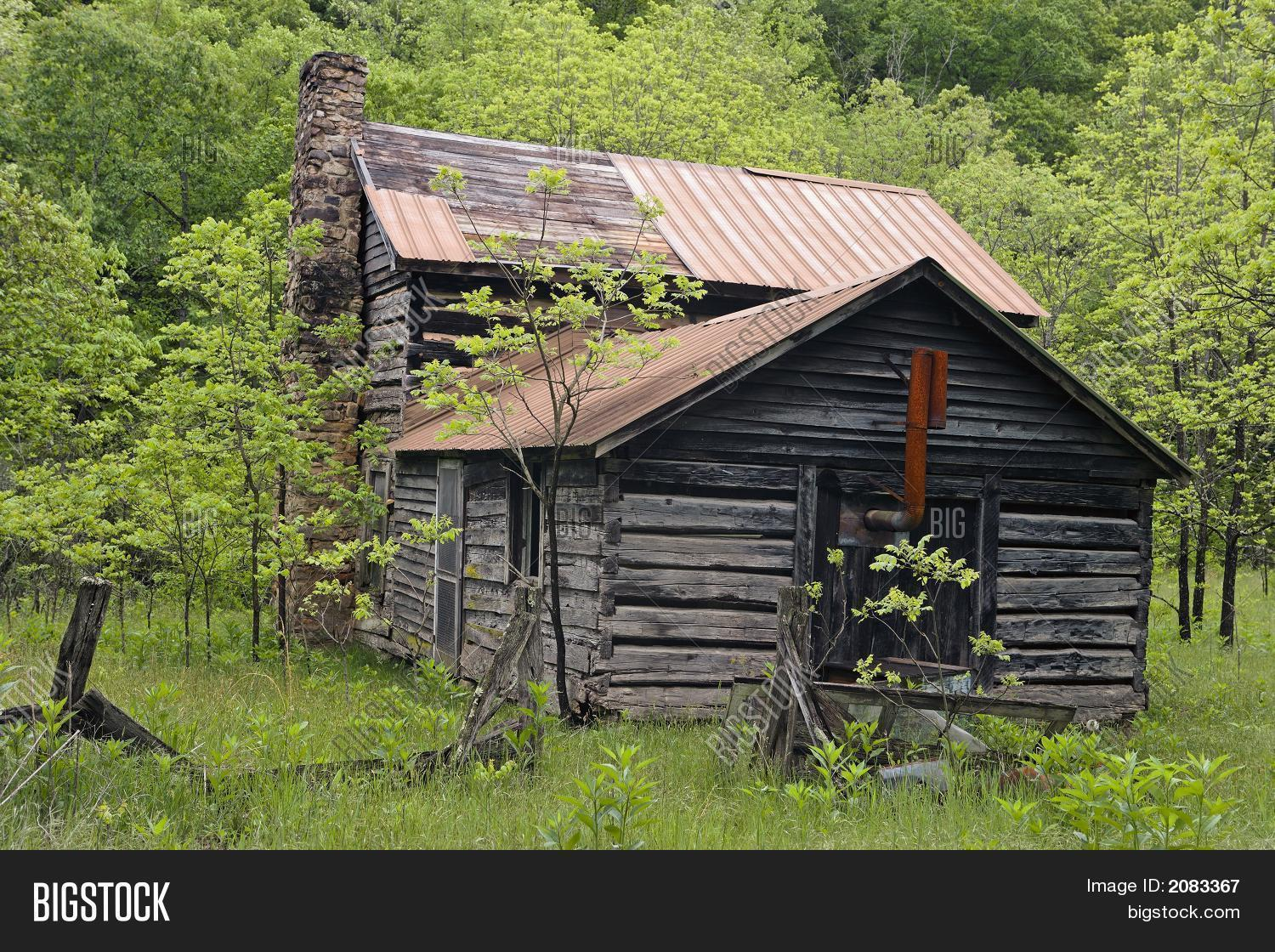 Old Log Cabin Rural West Virginia Image Photo Bigstock
