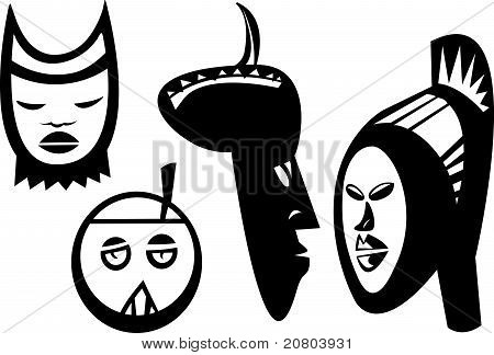 Four Sudanese Masks