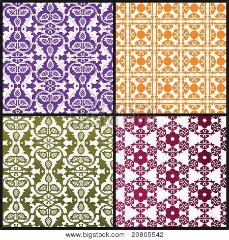 Beautiful background Patterns - remove clipping masks  for full pattern of each  in vector format