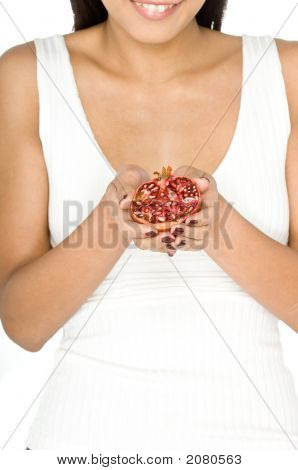 Woman With Pomegranate