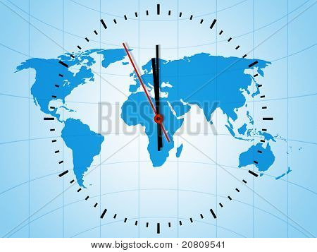 An image of a nice world clock