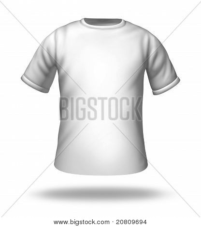 Single White T-shirt Isolated