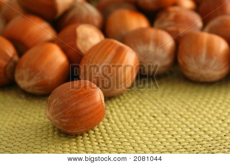 Hazel Nuts On A Mat