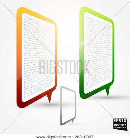 Background of abstract talking bubble for design