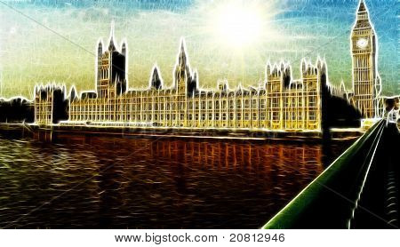 Artistic Impression Westminster Palace London