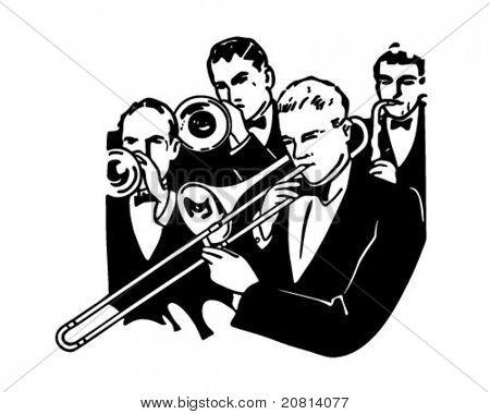 Sección de Big Band - ilustración imágenes prediseñadas Retro