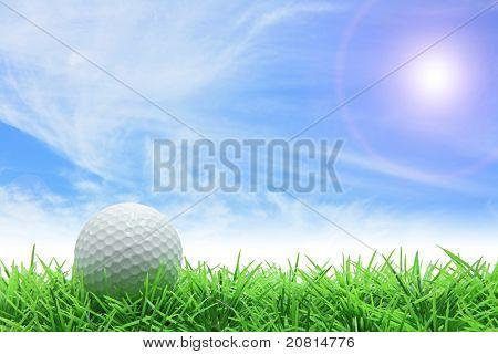 Céu azul do golfe