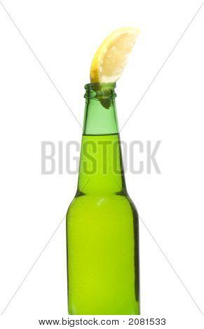 Green Bottle And Lemon