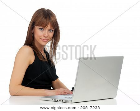 Lady And The Computer