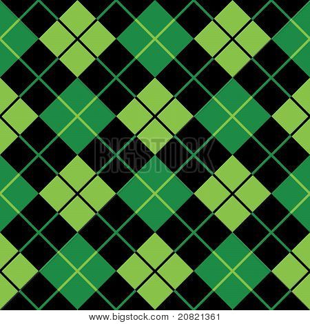 Argyle Green Seamless Background