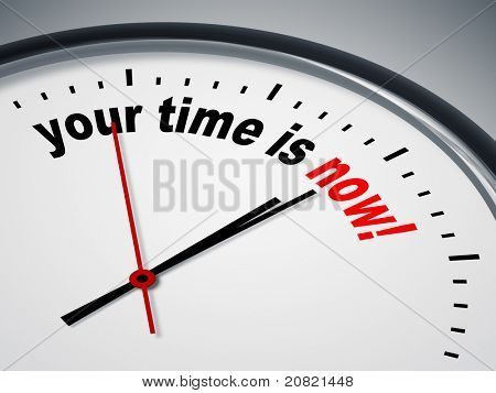 An image of a nice clock with your time is now
