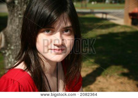 Beatufiul Teen At School