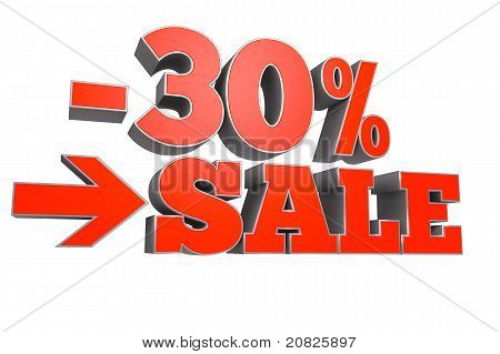 30% SALE discount text