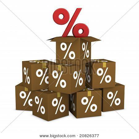 Percent Cardboard Boxes