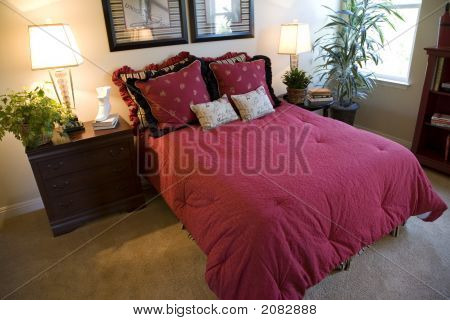 Bedroom Red Cover 1425
