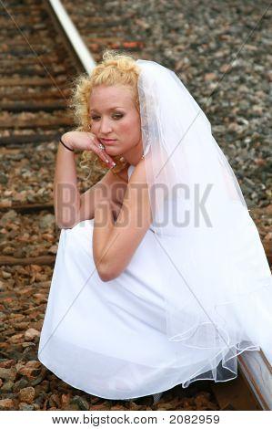 Braut hinsetzen