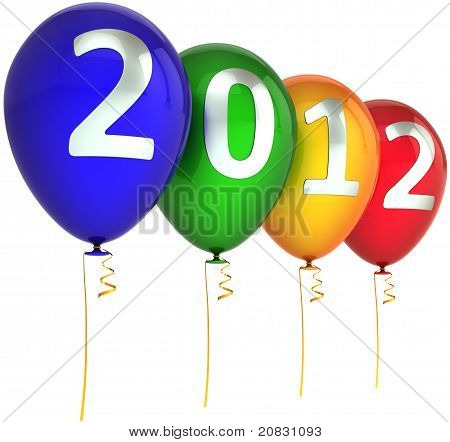 New 2012 Year party balloons multicolor