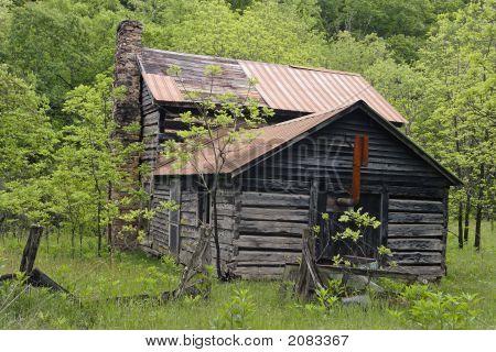 Old Log Cabin In Rural West Virginia