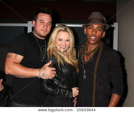 LOS ANGELES - JUN 4:  Chris Carney, Tiffany Thornton, guest at the Darnell Appling Birthday Celebration hosted by Camille Winbush and Francia Raisa at Cafe Entourage on June 4, 2011 in Los Angeles, CA