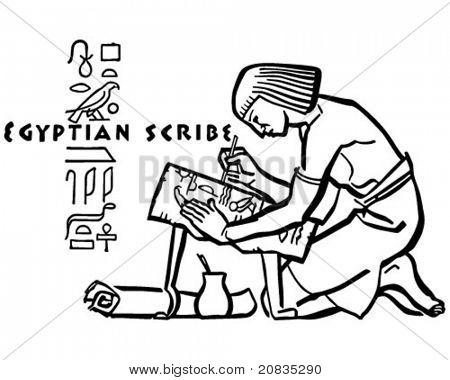 Escriba egipcio - ilustración imágenes prediseñadas Retro