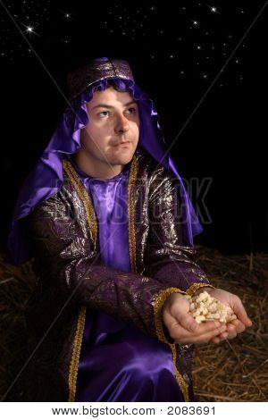 Wiseman Bearing Gift Of Frankincense