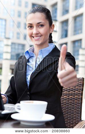 Successful Businesswoman On Coffee Break