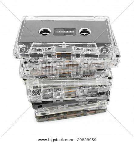Pila de casetes de Audio
