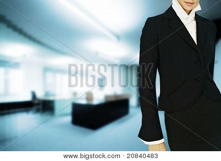 Woman In Modern Business Office