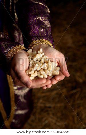 Hands Holding Frankincense