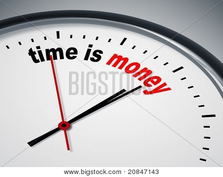 An image of a nice clock with time is money