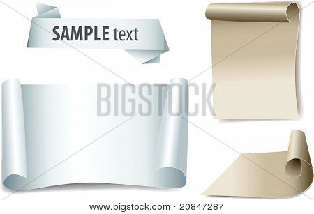 bland paper with page curl